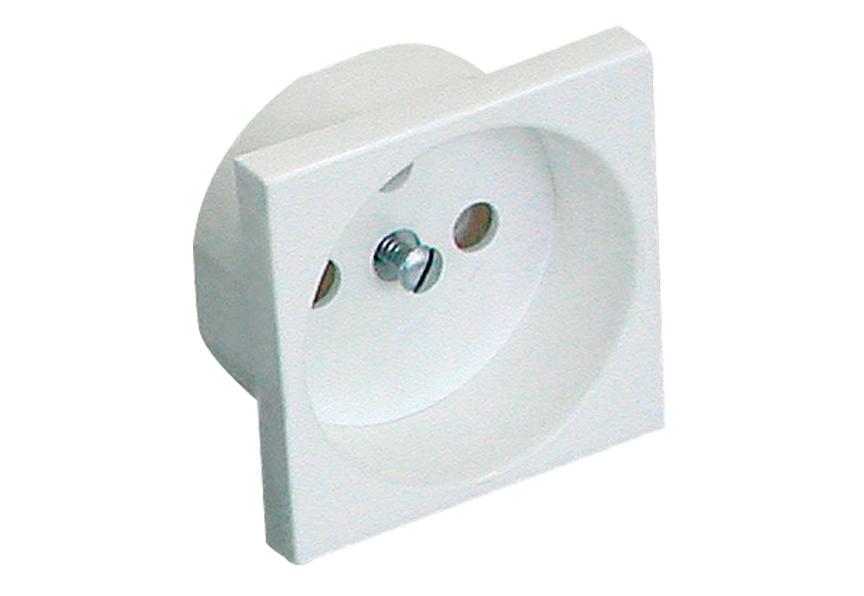 Modulární elektrická zásuvka Mosaic 45 bez dětské pojistky, jednoduchá, 45x45 mm, bílá