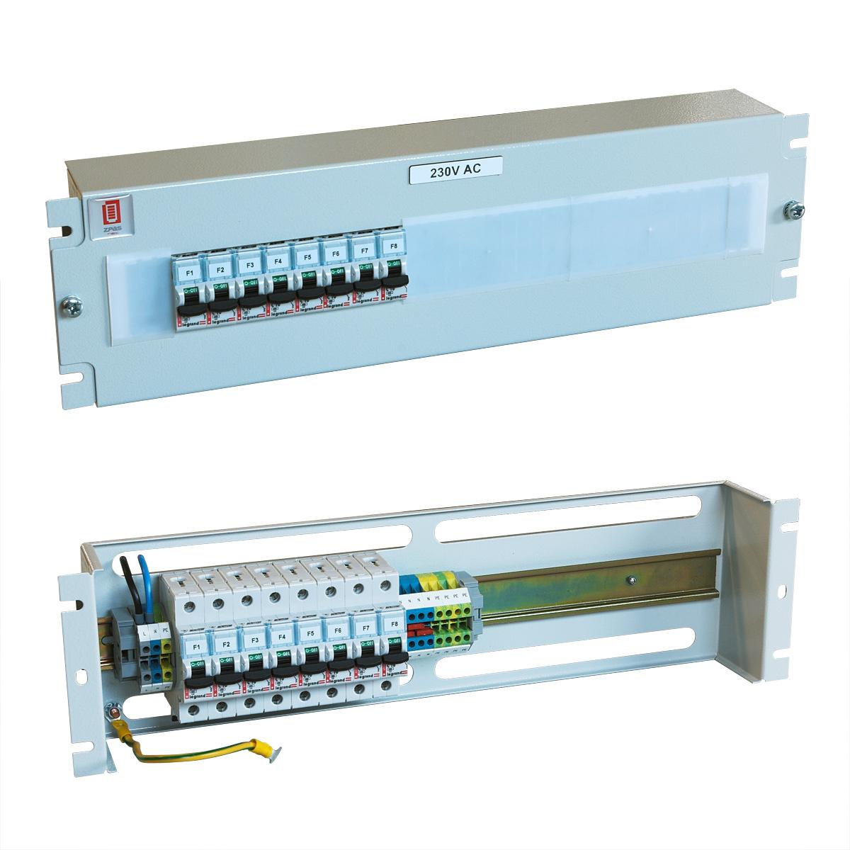 Jističový panel 230 V AC, 6x10 A, 2x16 A