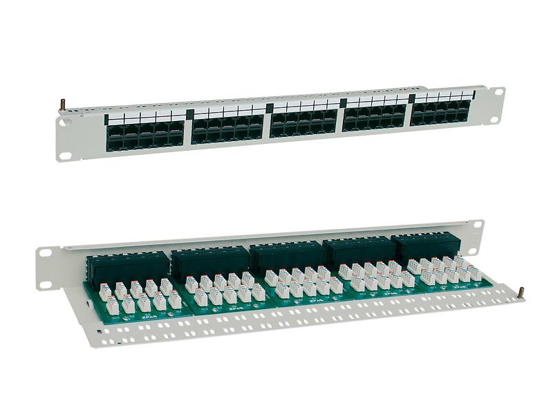 """Patch panel telefonní UTP, 19"""" x 1 U, kat. 3, 50portůRJ45"""