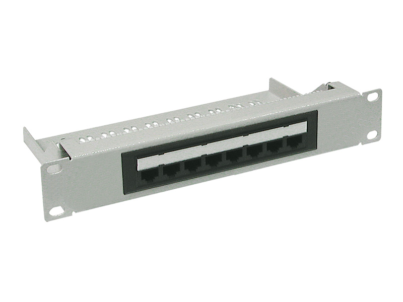 "Patch panel 10"" x 1 U, kat. 5e, 8 portů RJ45"